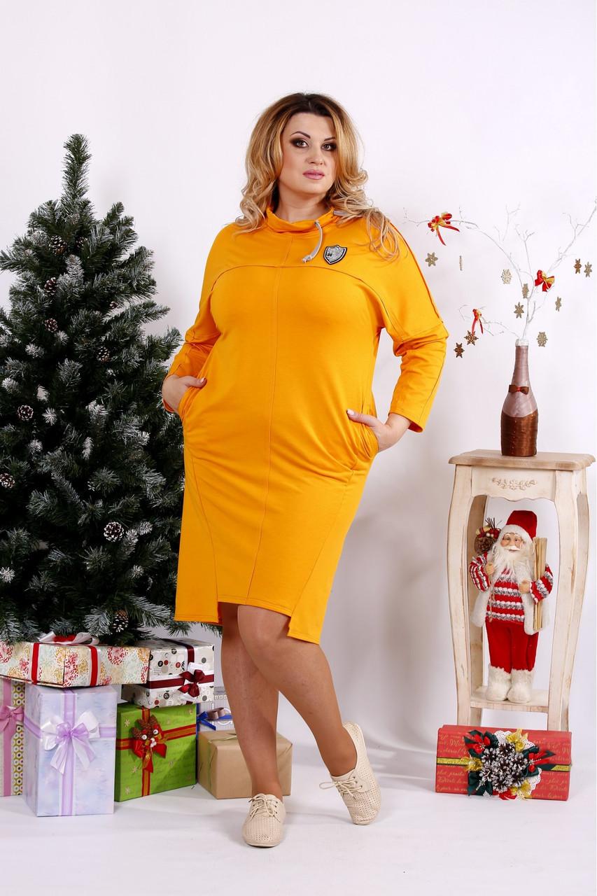 Женское стильное платье большие размеры 42-74