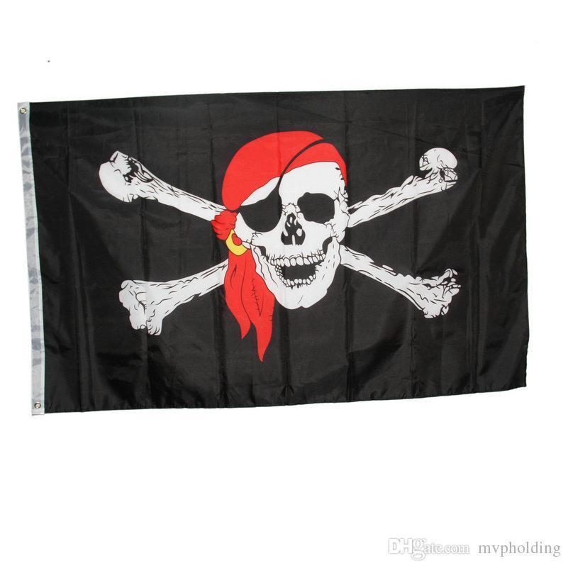 Пиратский Флаг 85х65см