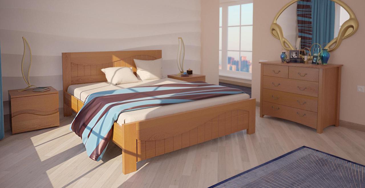 Кровать полуторная ХМФ Марсель (140*200)