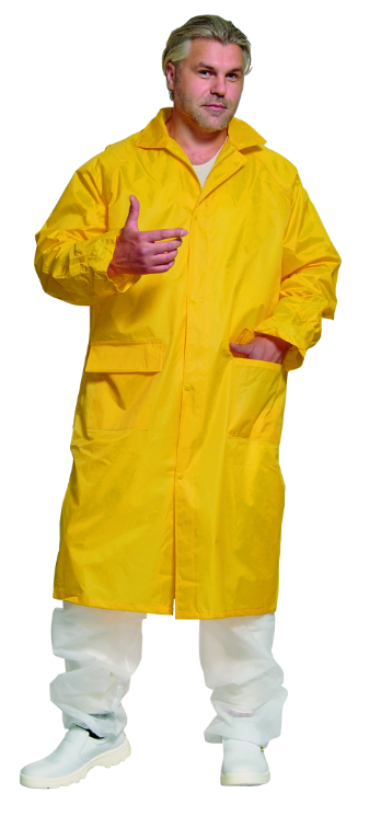 Плащ  прорезиненный ПВХ, желтый. Плащ влагозащитный желтый