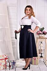 Нарядное офисное платье больших размеров 42-74, фото 2