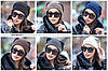 Женская модная вязаная шапка с ушками, в расцветках. ВС-2-1018 (119), фото 4