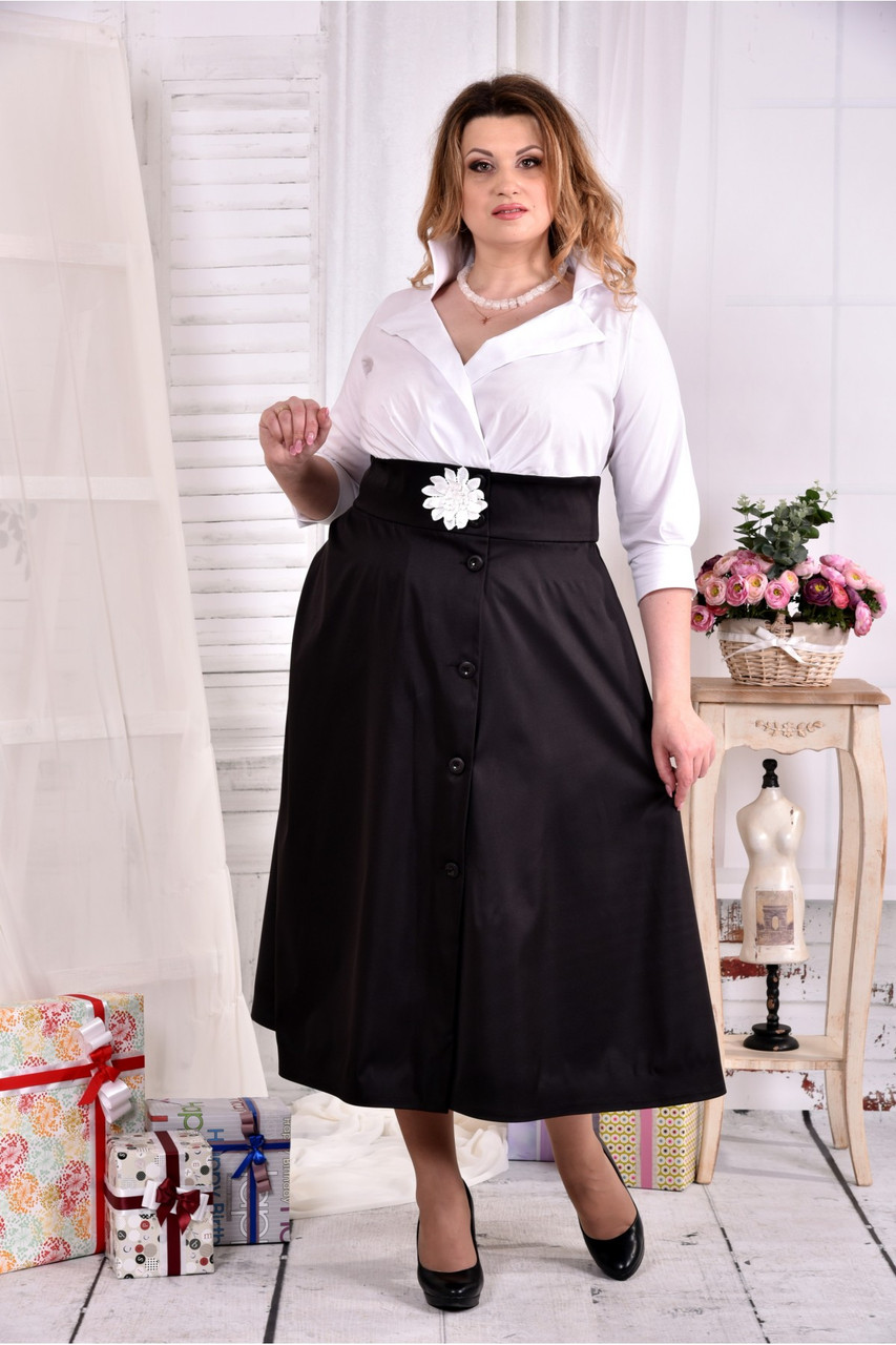 Нарядное офисное платье больших размеров 42-74