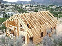 Стропила для крыши, сухая  100х100, д. 4,5-6
