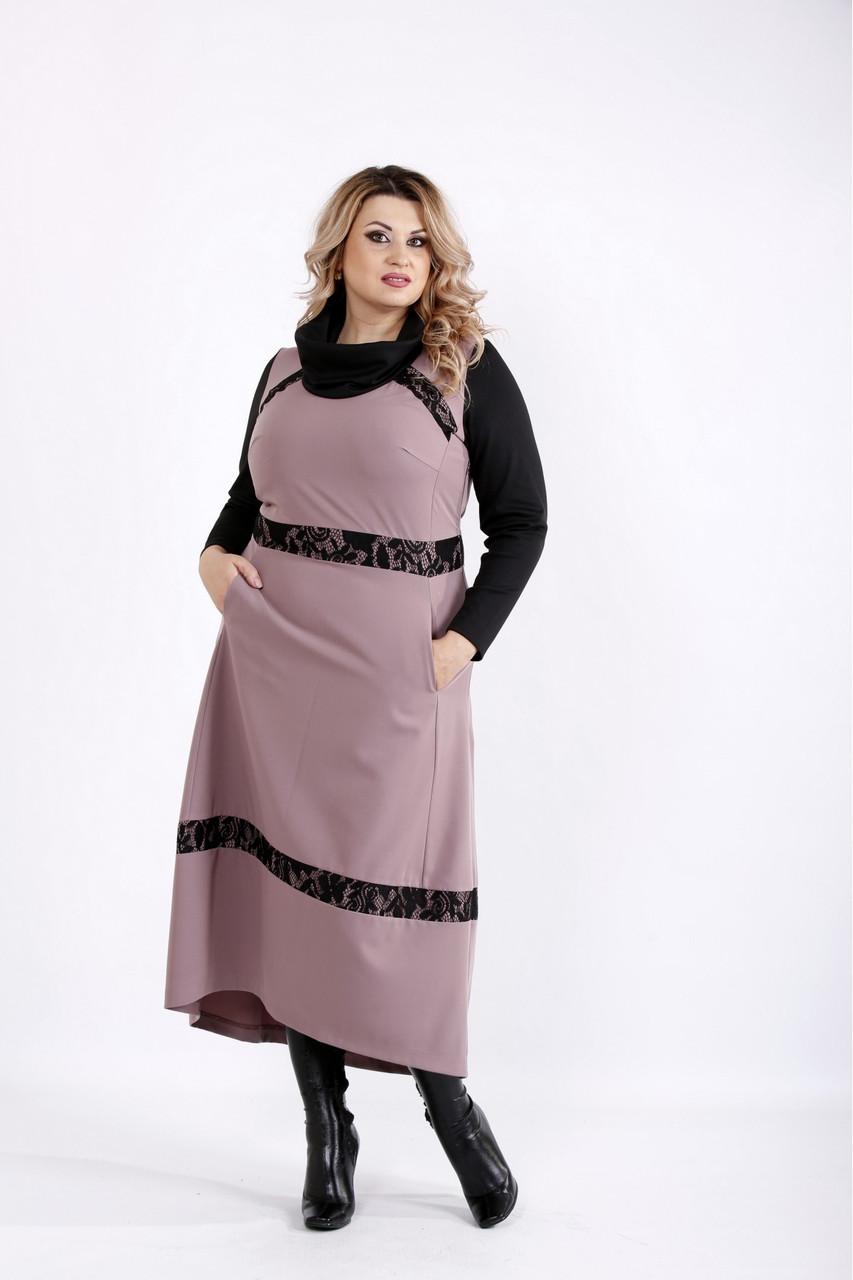 Платье женское демисезонное батальные размеры 42-74