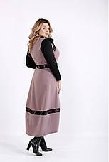 Плаття жіноче демісезонне батальні розміри 42-74, фото 3