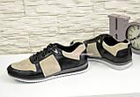 Кроссовки мужские из натуральной кожи и замши, на шнуровке, фото 4