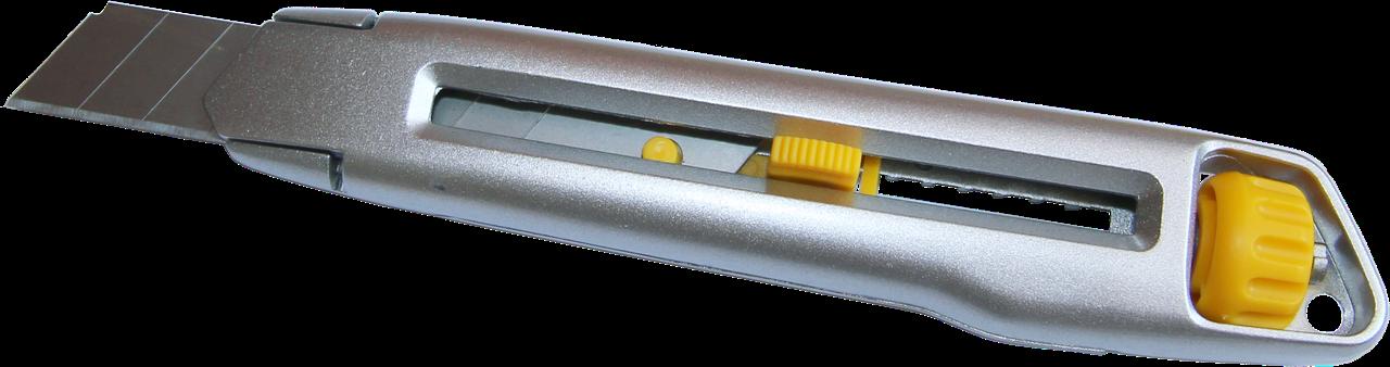 Нож универсальный Al сплав, 18мм с винтовым фиксатором
