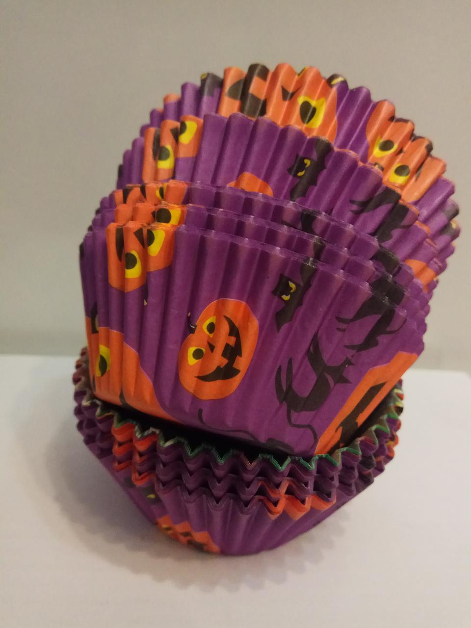 Форма бумажная для кексов Хэллоуин 100 шт.