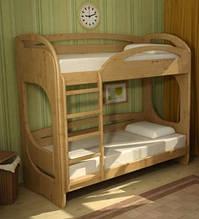 Двоярусне дерев'яне ліжко Баварія-2
