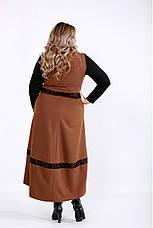 Плаття жіноче демісезонне батальні розміри 42-74, фото 2