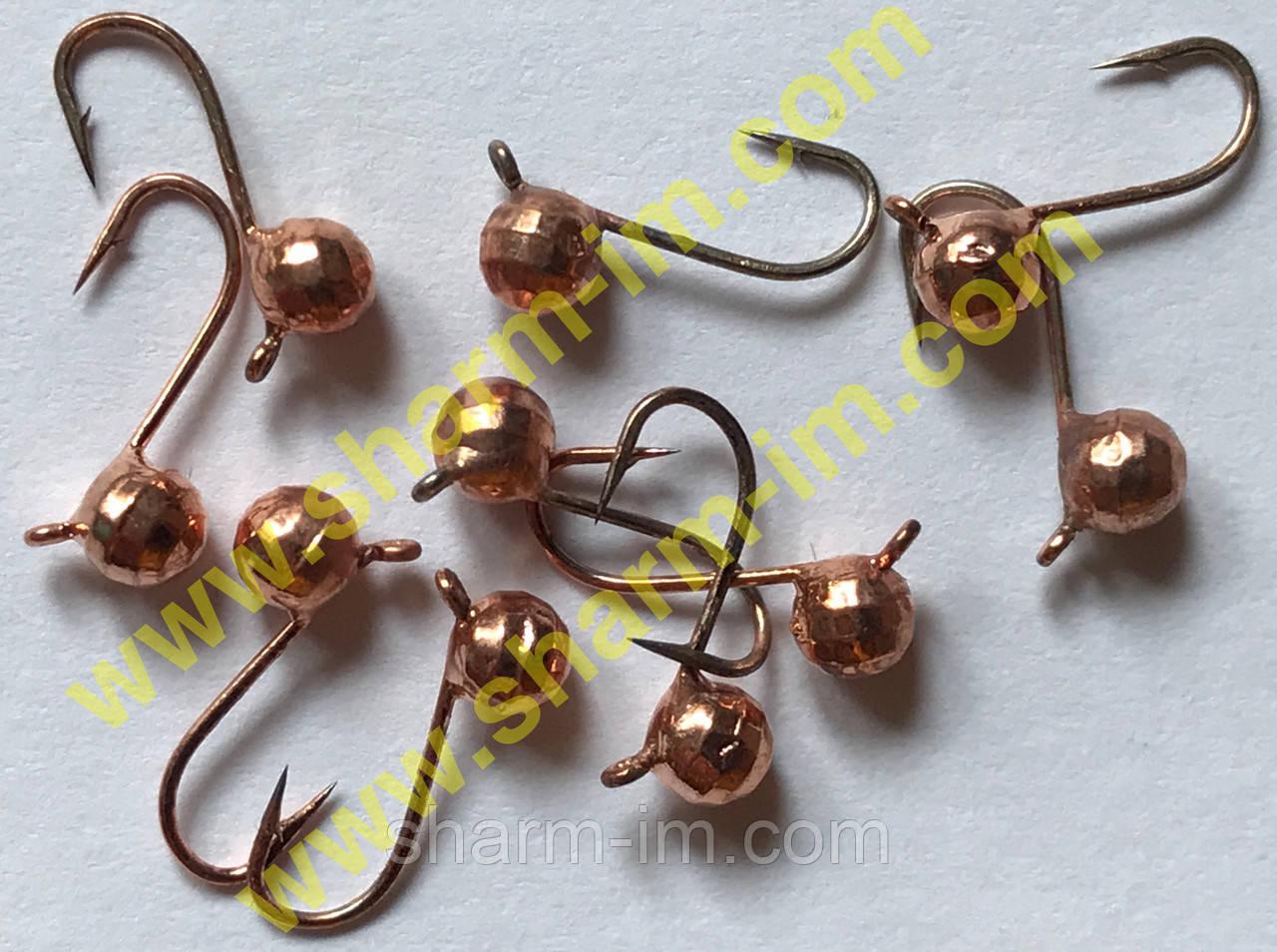 Мормышка вольфрамовая Bravo 1730B-CU 3,0 мм 0,24 гр. Шар граненый