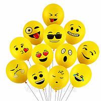 Надувные шарики смайлики Эмодзи  6 шт