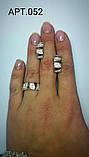 Срібний набір з золотими накладками 30052., фото 3