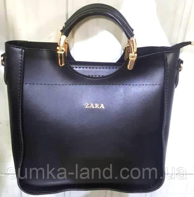 d880a156207b Женская черная сумка Zara из эко-кожи 26*26 см: продажа, цена в ...