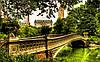 Виниловые обои Канал в парке