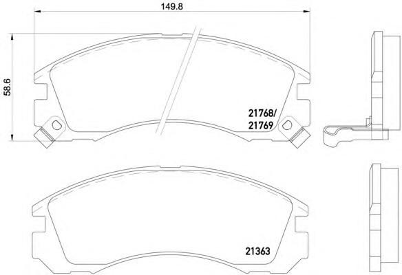 Textar 2136301 (2136315705) Тормозные колодки (передние) MITSUBISHI Lancer X3511001