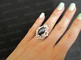 Срібне кільце з золотими накладками Джамала., фото 5