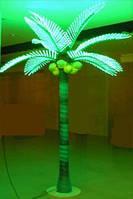 Светящаяся световая Пальма 360 см зеленая