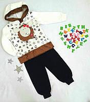 """Костюм детский """"Барашка"""", размер 86-104, на флисе, молочный, фото 1"""