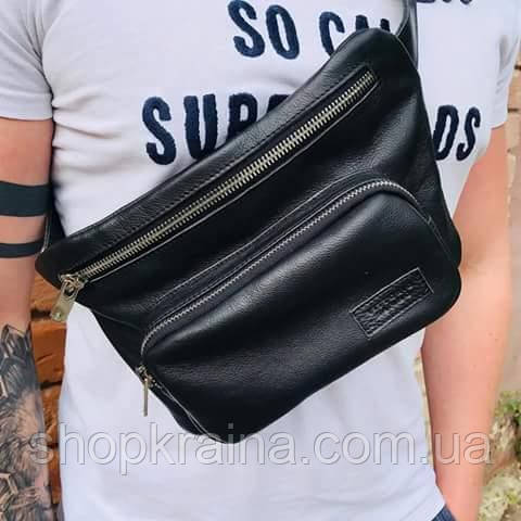 Мужская стильная сумка бананка VS016B leather 0016