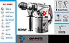 Перфоратор SDS+ 1500Вт, GRAPHITE 58G862.
