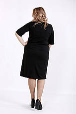 Трикотажне жіноче плаття з еко-шкірою розміри 42-74, фото 3