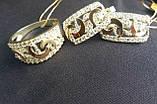 Срібний набір з золотими накладками 30081, фото 2