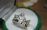 Кольцо корона с золотыми накладками , фото 2