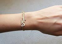 Серебряные именные браслеты 925 пробы, фото 1
