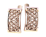 Серьги серебряные Вензеля 41126, фото 2