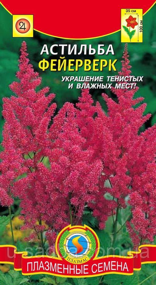 Семена цветов  Астильба Фейерверк 40 шт розовые (Плазменные семена)