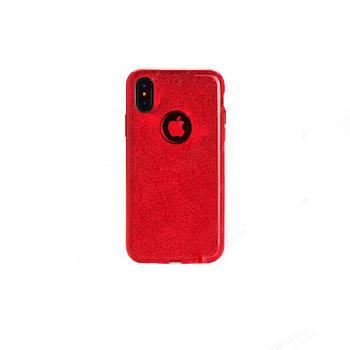 """Накладка iPhone Х """"Shine"""" Красная"""