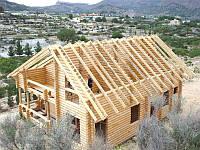 Стропила для крыши, сухая, строганная 100х100, д. 4,5-6