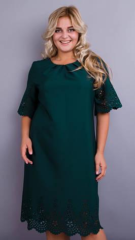 Платье женское зеленое плюс сайз большие размеры: 66, 68, фото 2