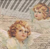 Декупажная салфетка Два ангела 4067
