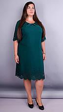 Платье женское зеленое плюс сайз большие размеры: 66, 68, фото 3