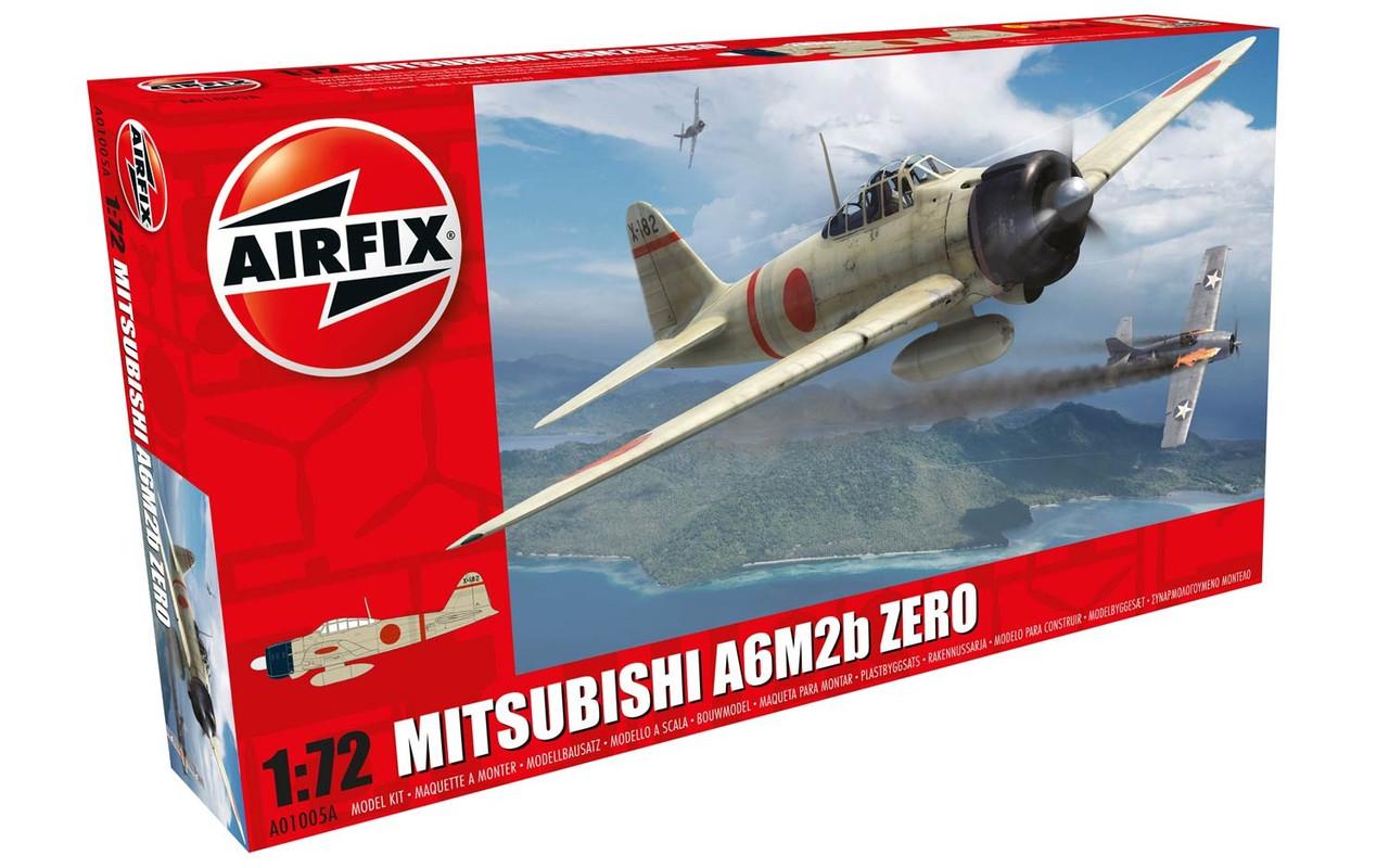 Mitsubishi A6M2b ZERO. Модель японского самолета в масштабе 1/72. AIRFIX 01005