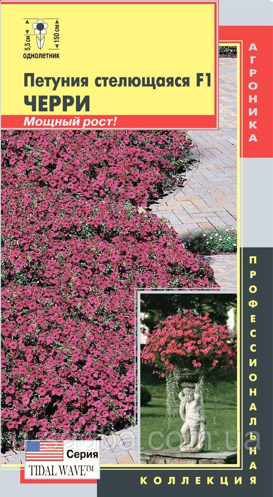 Семена цветов  Петуния стелющаяся Черри (серия Tidal Wave™) 5 драже фиолетовые (Плазменные семена)