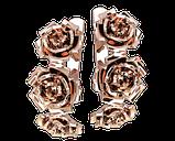 Серьги серебряные Розы 41127, фото 2