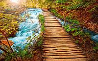 Виниловые Деревянный мост