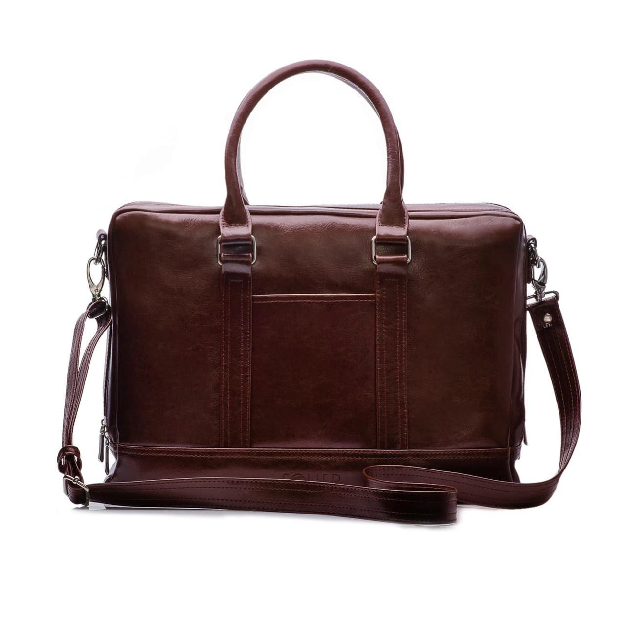 Кожаная деловая сумка для переноса документов и ноутбука