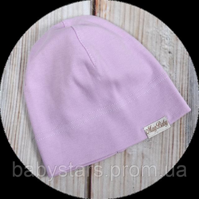 трикотажная шапочка для девочки