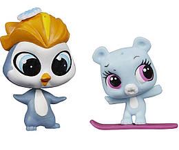 Литл Пет Шоп фигурки Элиза Блу и Ред  Слопингтон Littlest Pet Shop Eliza Blue & Rad Slopington