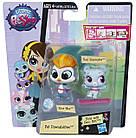 Литл Пет Шоп фигурки Элиза Блу и Ред  Слопингтон Littlest Pet Shop Eliza Blue & Rad Slopington, фото 2