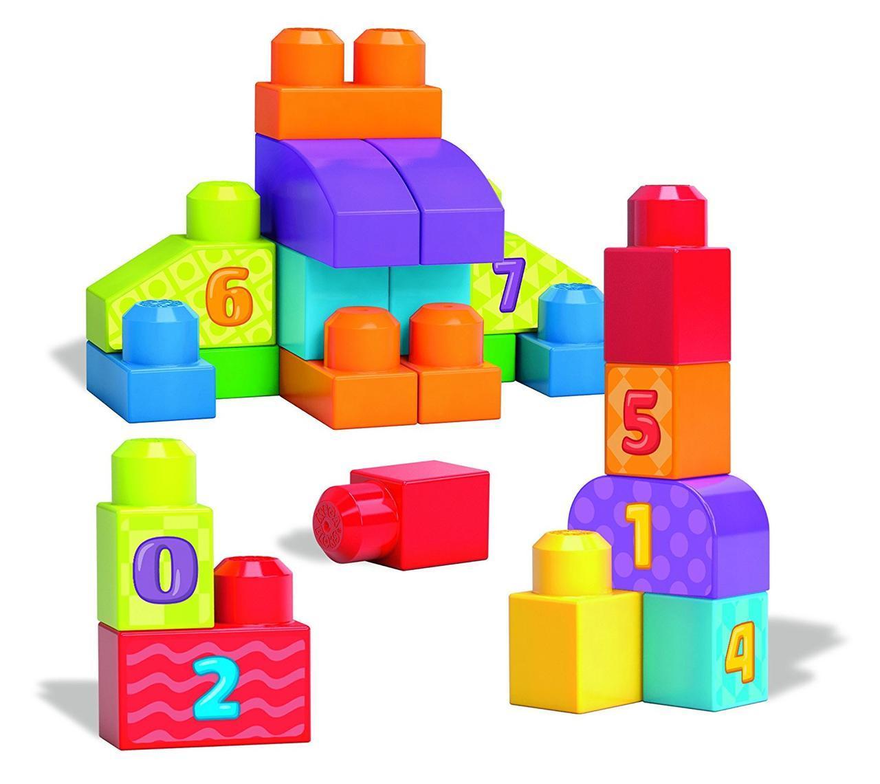 Конструктор для малышей Mega Bloks Цифры 20 деталей первое строительство First Builders DLH85