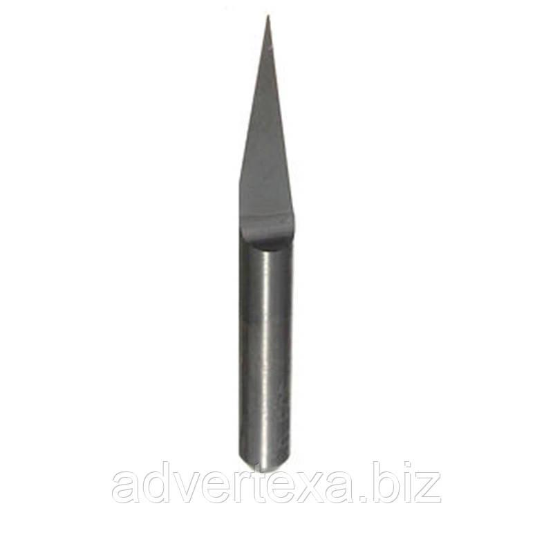 Фреза 0.1мм 15 градусов, 3.175мм из вольфрамовой стали с общей длиной 31.5мм для гравировки на ЧПУ