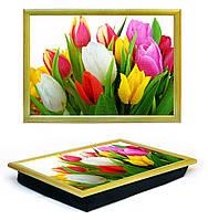 Поднос на подушке Lap Tray Тюльпаны