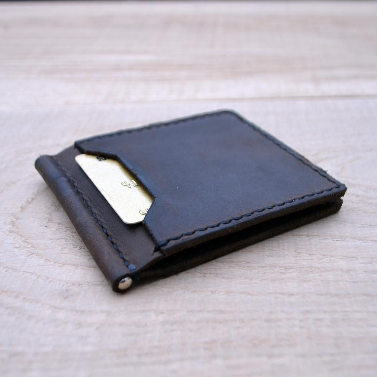 Коричневый зажим для денег с внешними карманами Mr.Falke