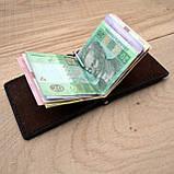 Коричневый зажим для денег с внешними карманами Mr.Falke, фото 3